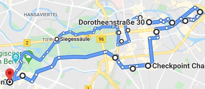 Berlin By Bike Main Routeac